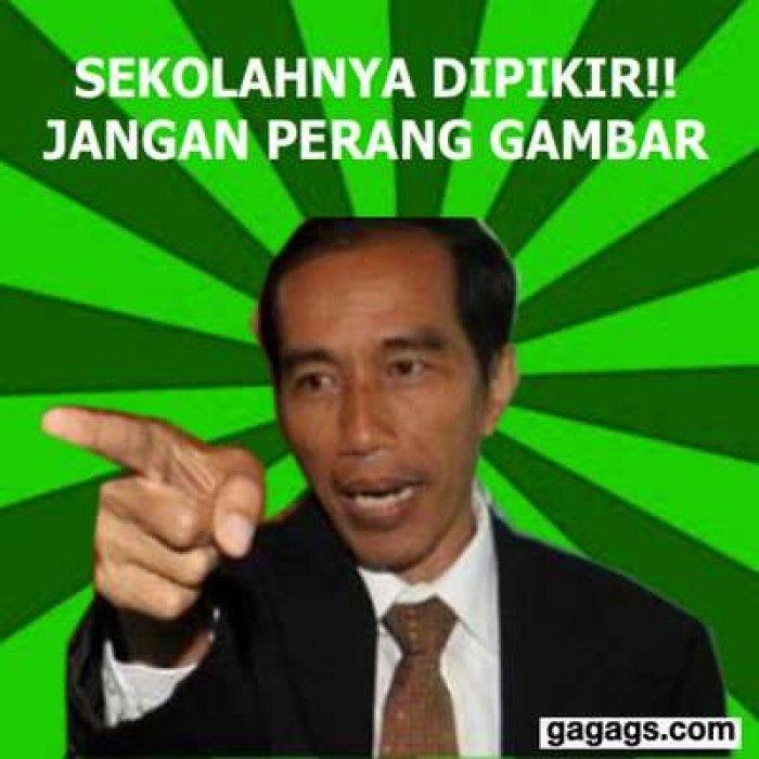 Meme Lucu Jokowi Perang Gambar