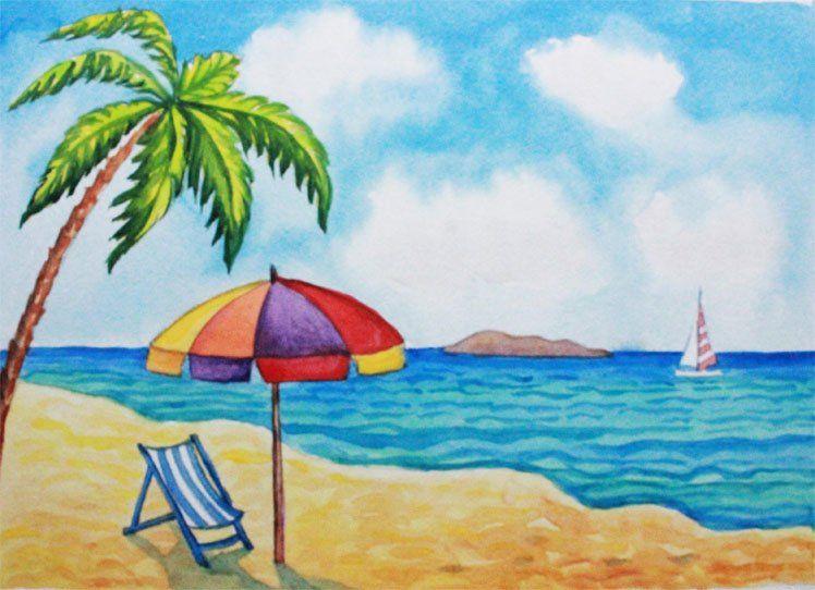 Рисунок лето 5 класс, открытки