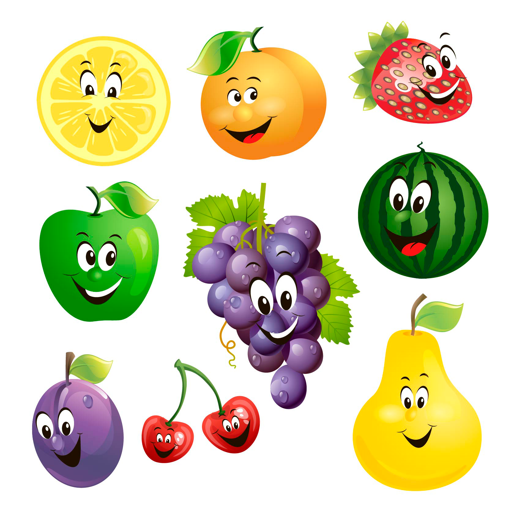 Download 50 Free Vector Fruits Vegetables Icons Fruit Picture Vegetable Pictures Fruit Clipart