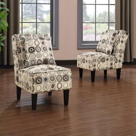 Handy Living Dani Armless Accent Chair In 2019 Armless
