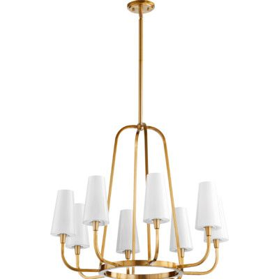 Langley street ganador 9 light shaded chandelier reviews wayfair