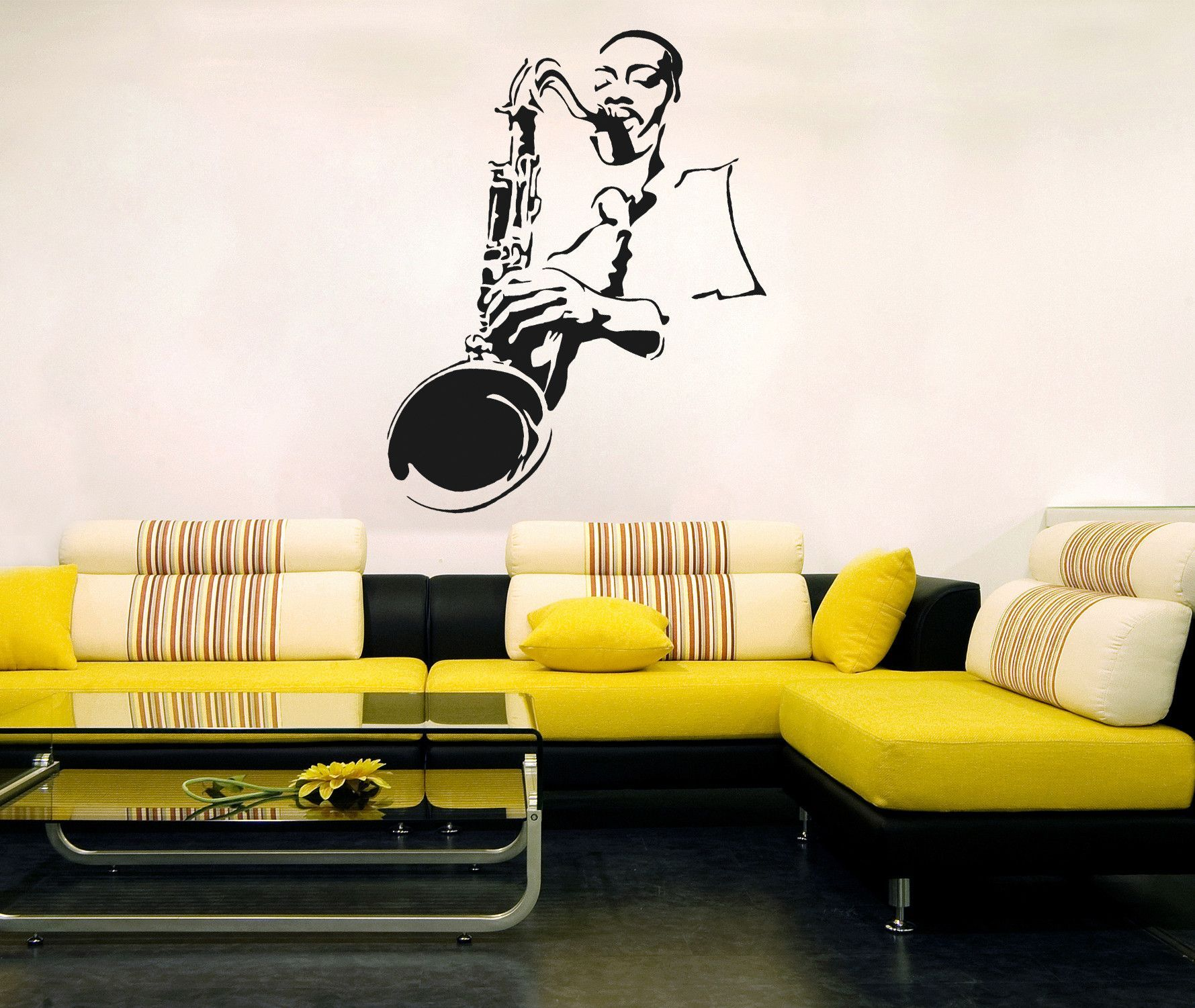 ik206 Wall Decal Sticker Decor jazz musician sax saxophone music ...