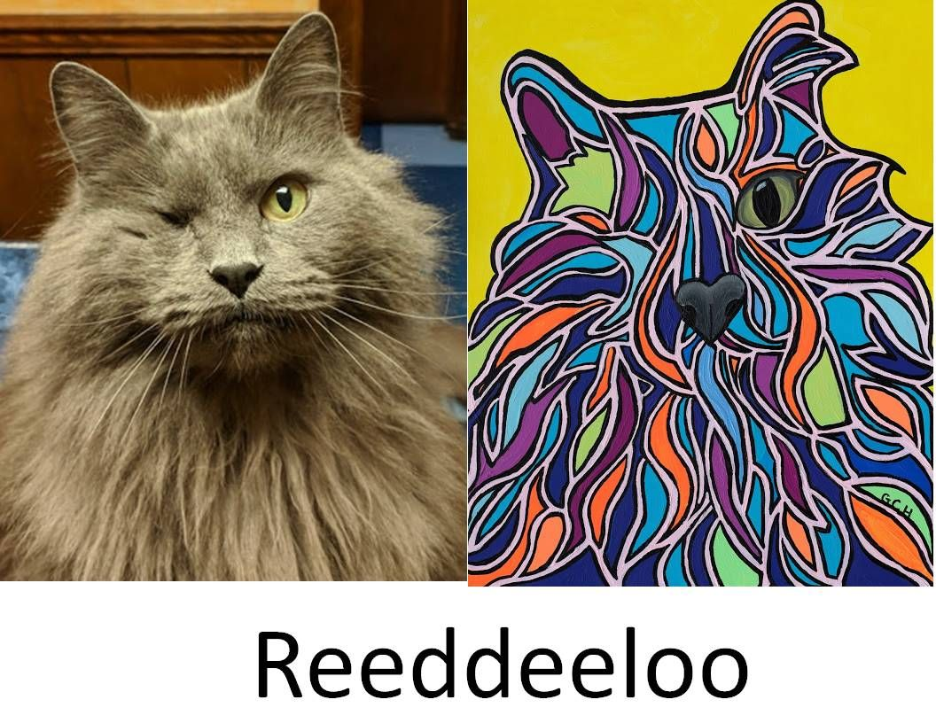 This Is Reeddeeloo He Is The Resident Cat At Southwood Animal Hospital In Warner Robins Georgia This Painting Hangs Custom Pet Portraits Pet Portraits Pets