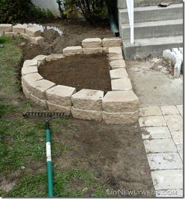 Garden Block Wall Ideas block retaining wall retaining and landscape wall cipriano landscape design mahwah nj Diy Retaining Wallflower Bed From Diy Newlyweds Blog