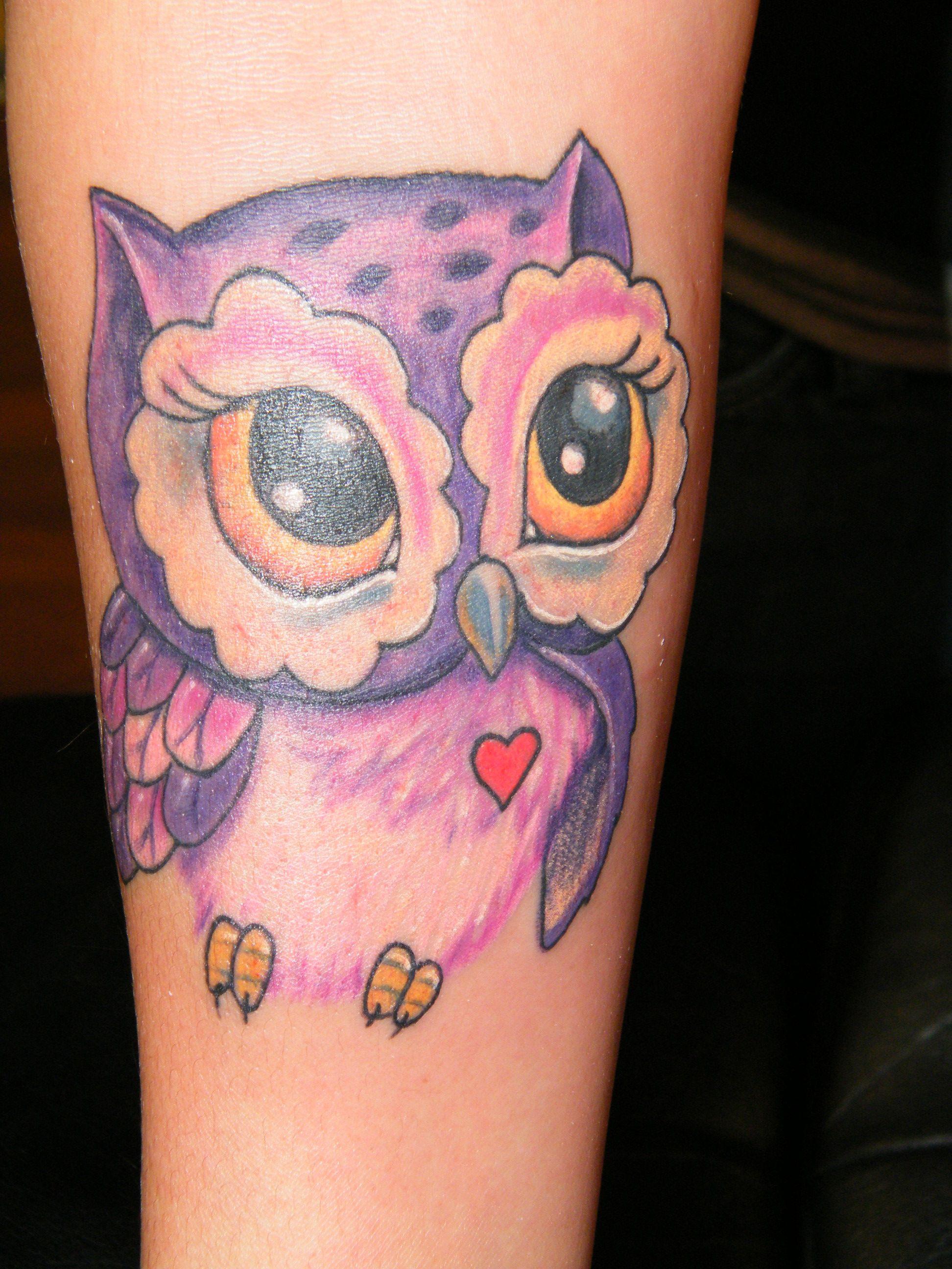 Twisted Tattoo 210 310 6232 Baby Owl Tattoos Cute Owl Tattoo Owl Tattoo Design