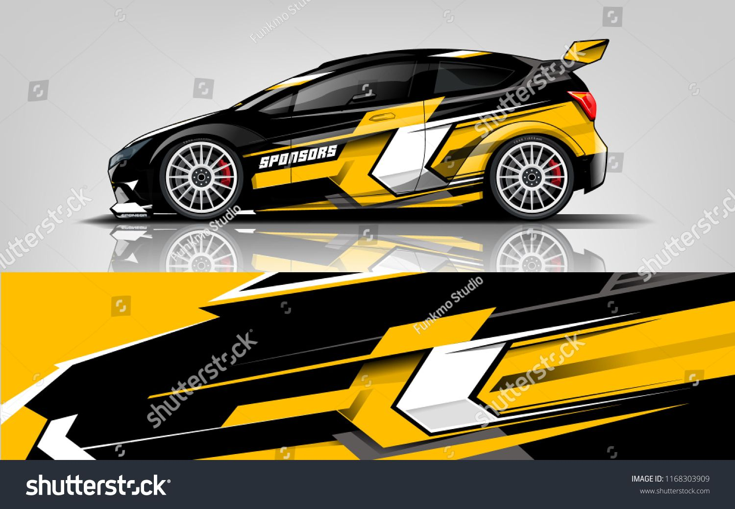Race Car Sticker Design