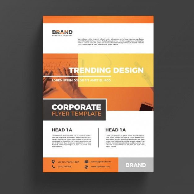 Orange Corporate Business Flyer Template Free Psd Graphic Design