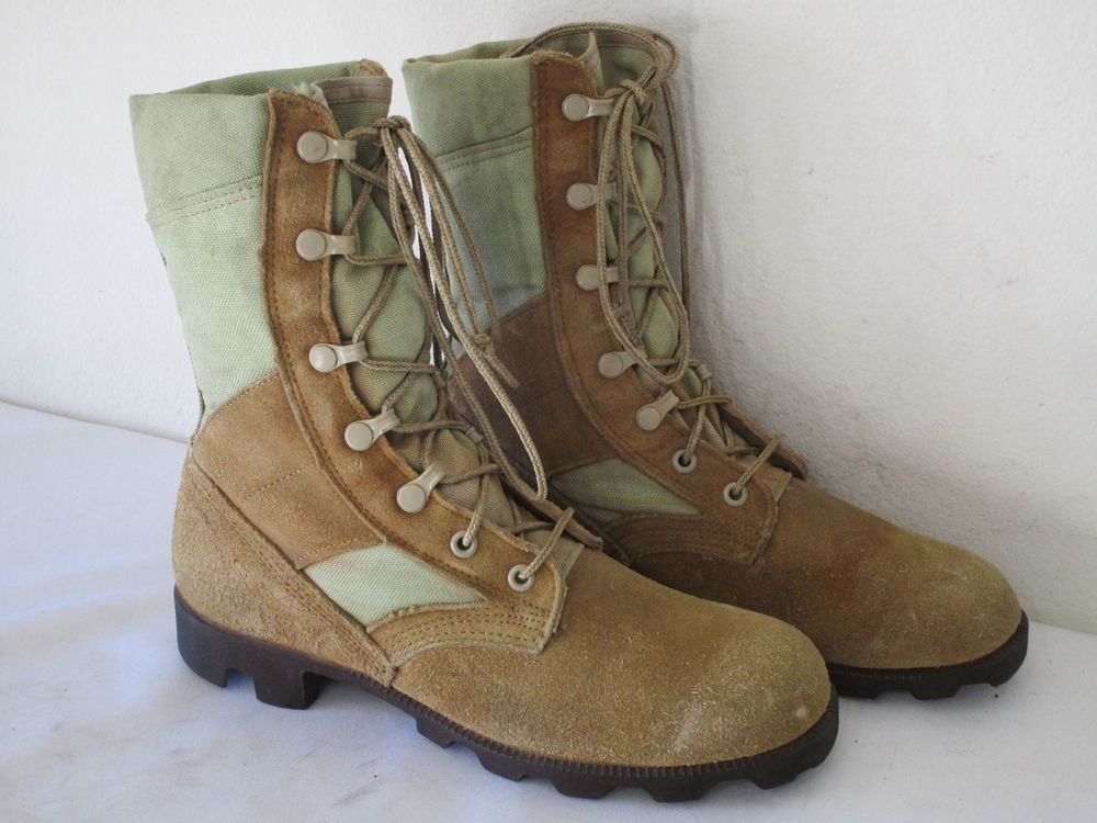 Ro Search US Military Combat Boots Canvas Leather Size 6.5 ...