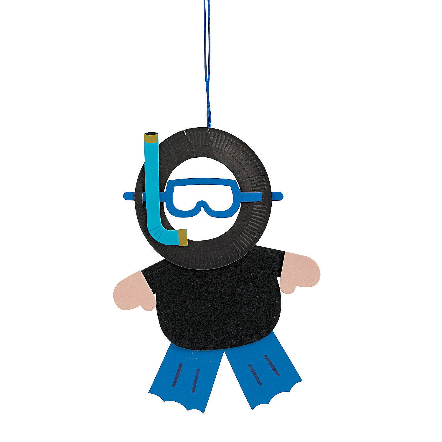 Paper Plate Scuba Diver Photo Frame Craft Kit Orientaltrading