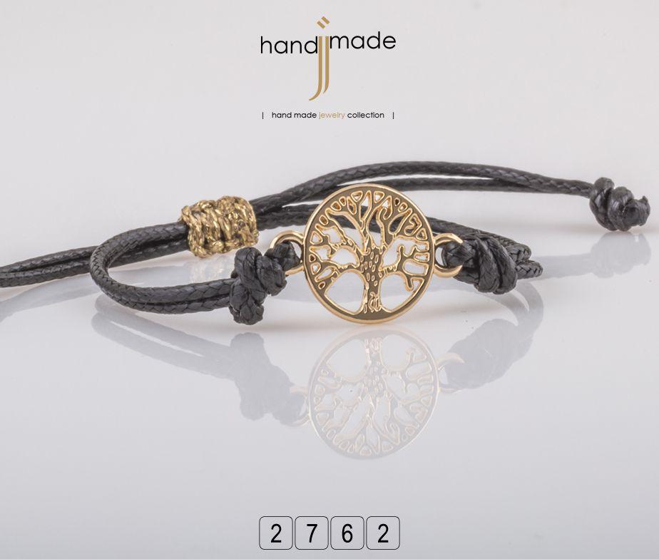 Γυναικείο βραχιόλι με διακοσμητικό χρυσό δέντρο της ζωής. #handmade #jewelry #fashion