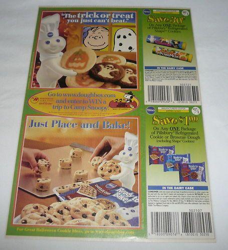 2001 pillsbury dough boy ad page charles schultz peanuts halloween - Pillsbury Dough Boy Halloween Cookies