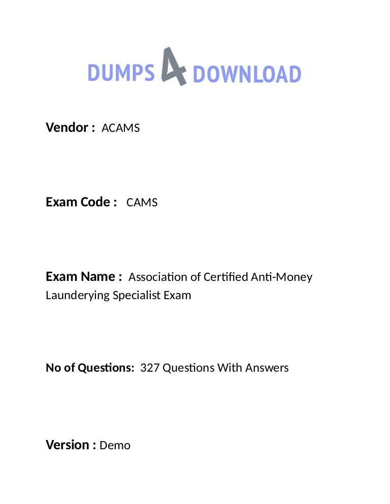 Pin by Educatincertification on How To Prepare ACAMS CAMS Exam