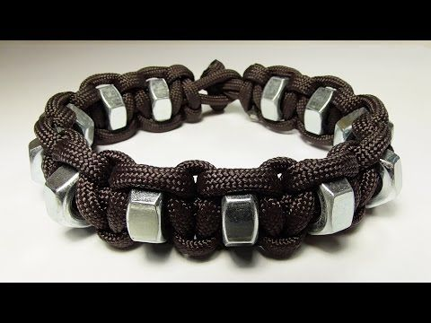 """""""How You Can Make A Simple Hex Nut Paracord Survival Bracelet"""" - YouTube"""