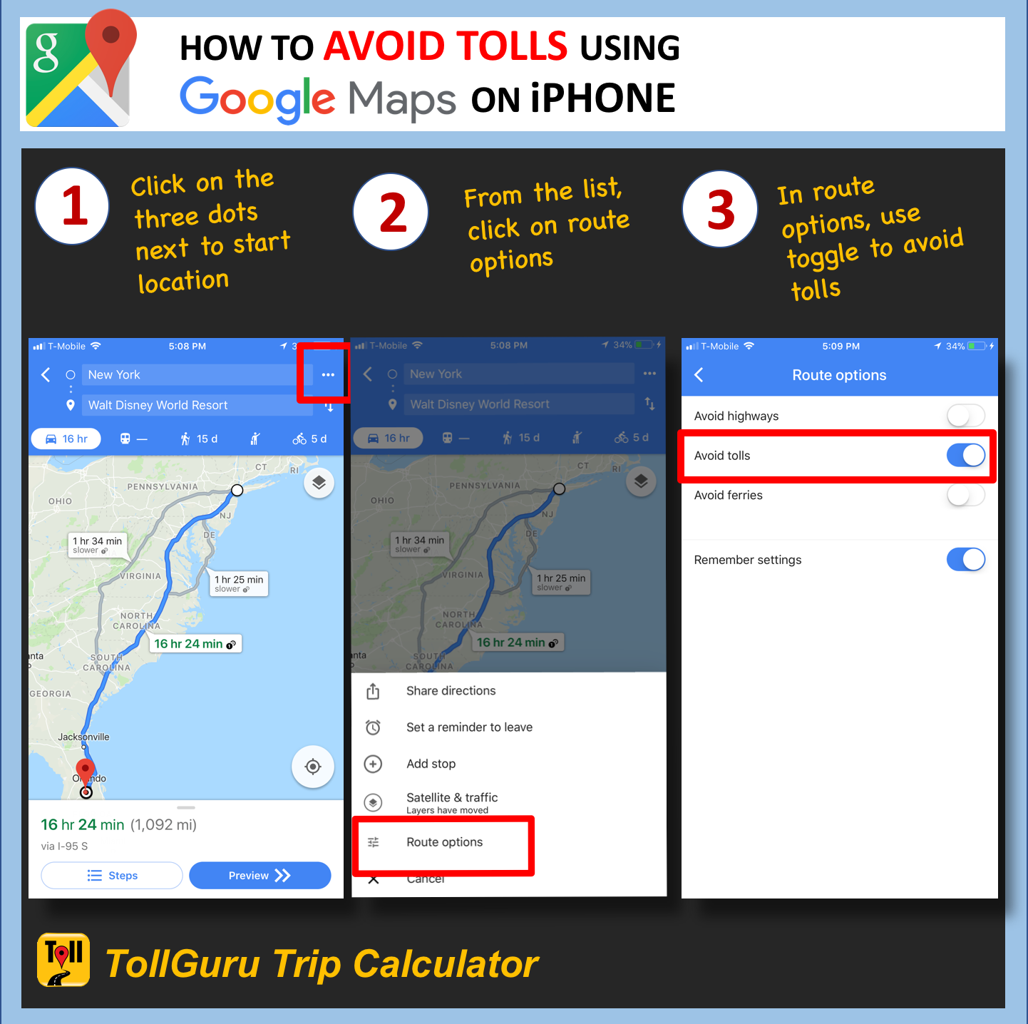 how to avoid tolls using google maps on iphone 3 simple steps or