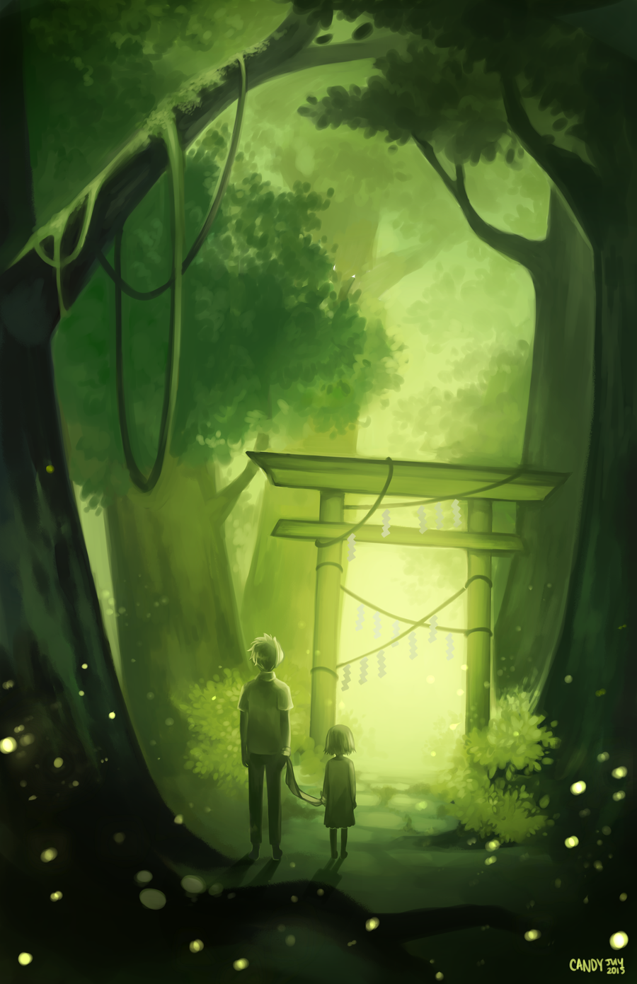 Into The Forest Of Fireflies Light Fireflies Anime Anime Background Anime Wallpaper