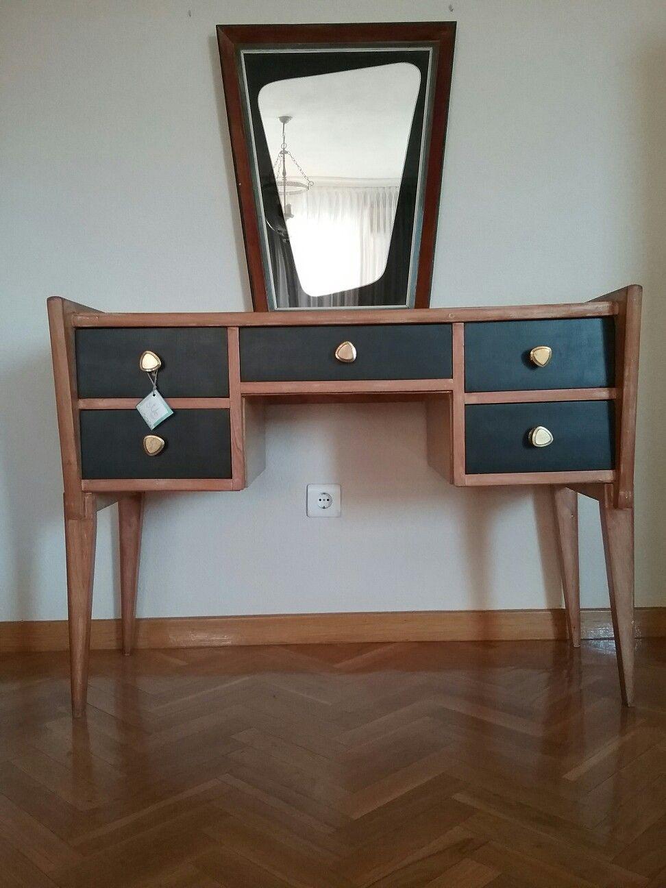 mueble tocador vintage españa circa años 50 diseño nórdico style ... - Muebles Diseno Nordico