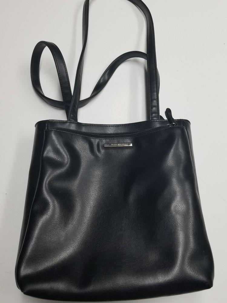 Nine West Black Leather Handbag Ninewest Shoulderbag
