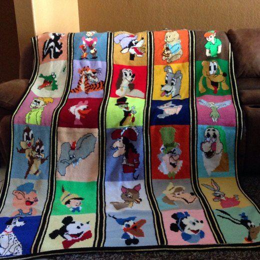Disney Blanket crochet project by Janet W | LoveKnitting