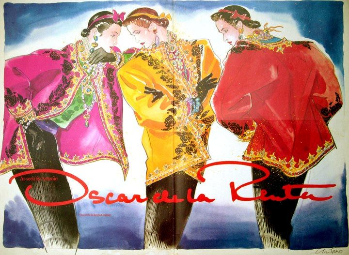 Oscar De La Renta 80 S Artist Illustration Antonio Lopez Oscar
