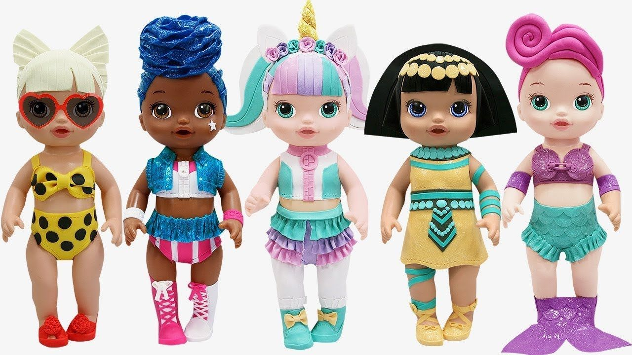 Play Doh New Lol Surprise Doll Series 3 Outfits Unicorn Pharaoh Babe Waves Baby Alive Doll Play Doh Baby Alive Dolls Baby Alive