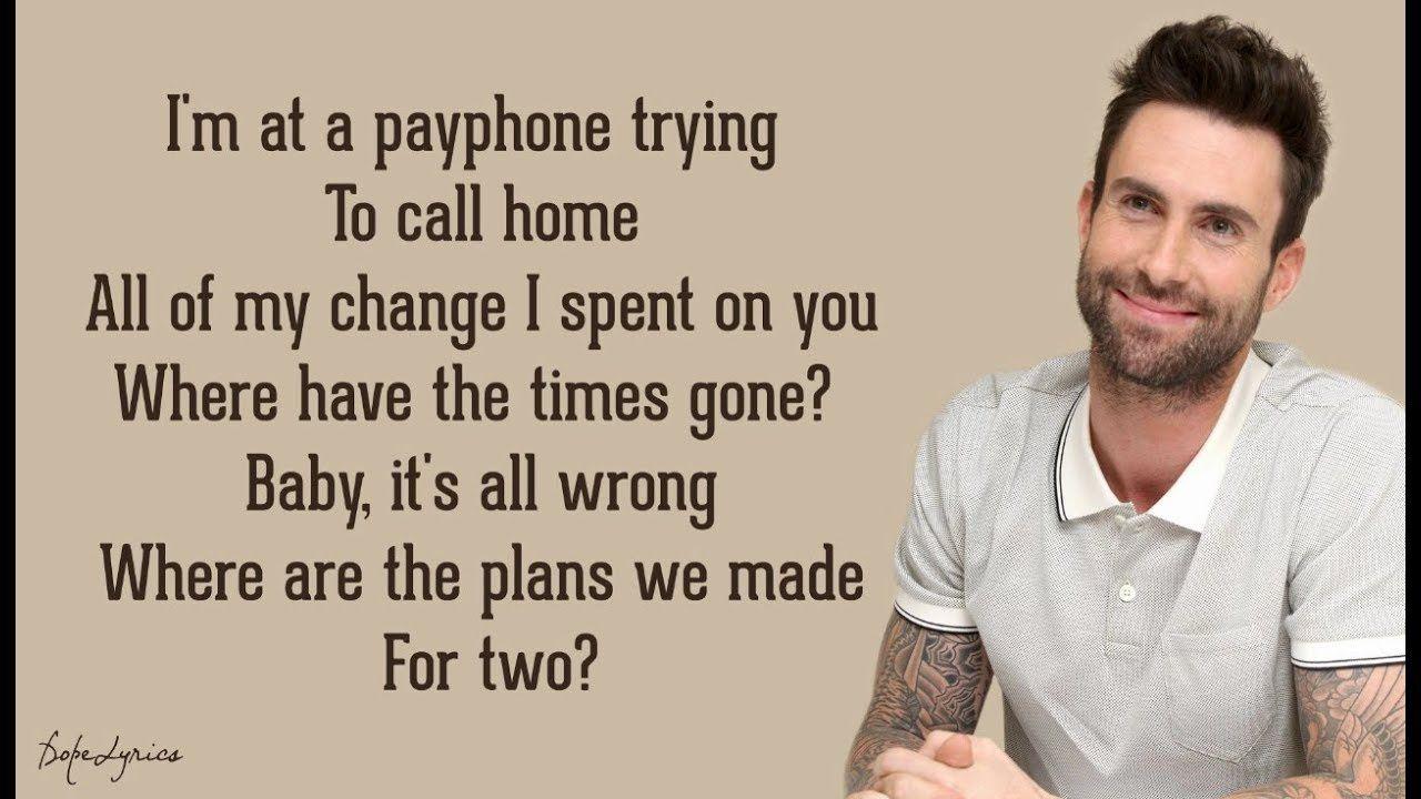 Payphone Maroon 5 Ft Wiz Khalifa Lyrics The Wiz Songs Lyrics