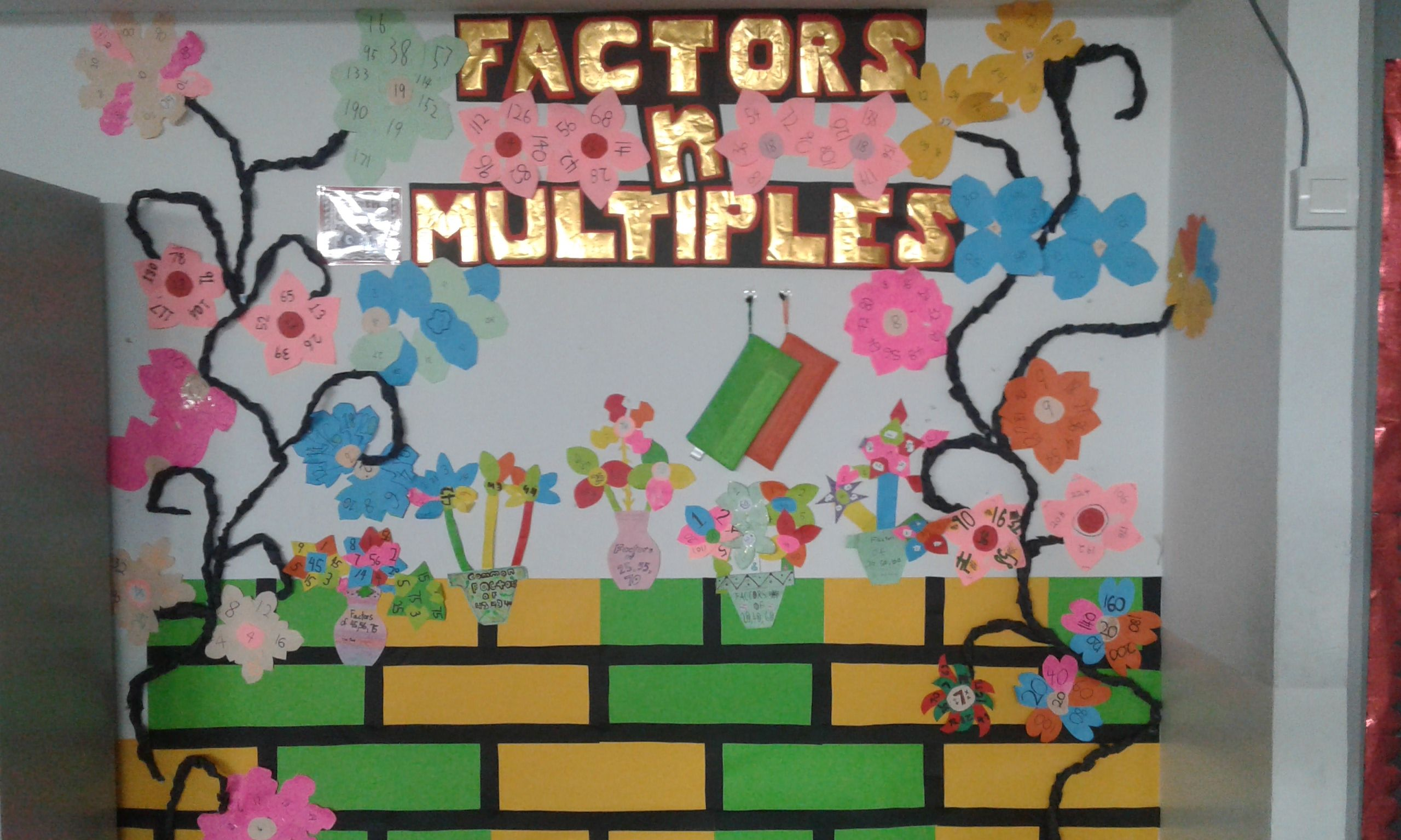 Primary 4 Math Bulletin Board On Factors Amp Multiples