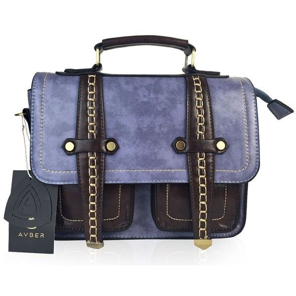 Amazon.com: Avber Womens Vintage Manmade Saddle Messenger Bag... ($35) ❤ liked on Polyvore featuring bags, messenger bags, brown satchel handbag, satchel bag, shoulder bag, vintage messenger bag and satchel messenger bag