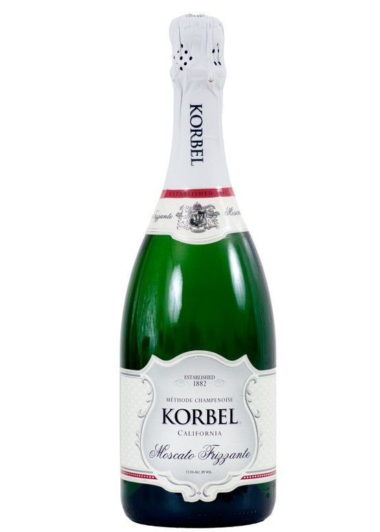 KORBEL's Moscato Frizzante is back! Moscato Frizzante is luscious and sweet, ideal for desserts.