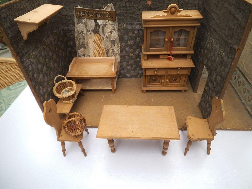 Küchenmöbel, Gründerzeitküche, Holztisch, Holzstühle - küchenschränke gebraucht kaufen