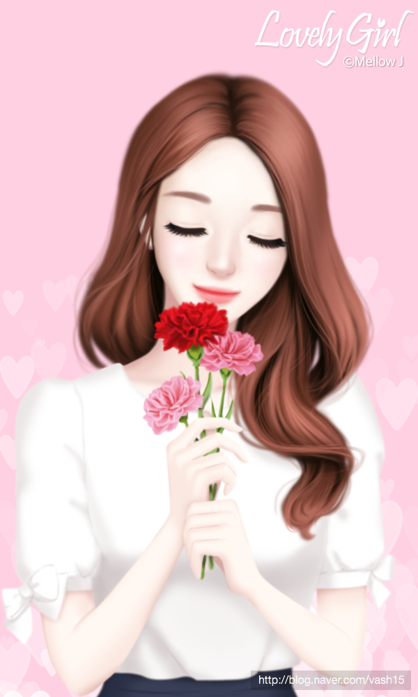 Gambar Seni Digital Oleh Aon Pada Lovely Girl Ilustrasi Kartun