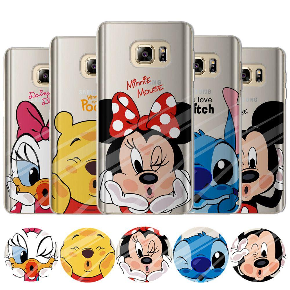 Mickey Minnie Case For Coque Samsung Galaxy Grand Prime S4 S5 S6 ...