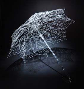 Glass Sculptures    Network Parasol by Robert Mickelson