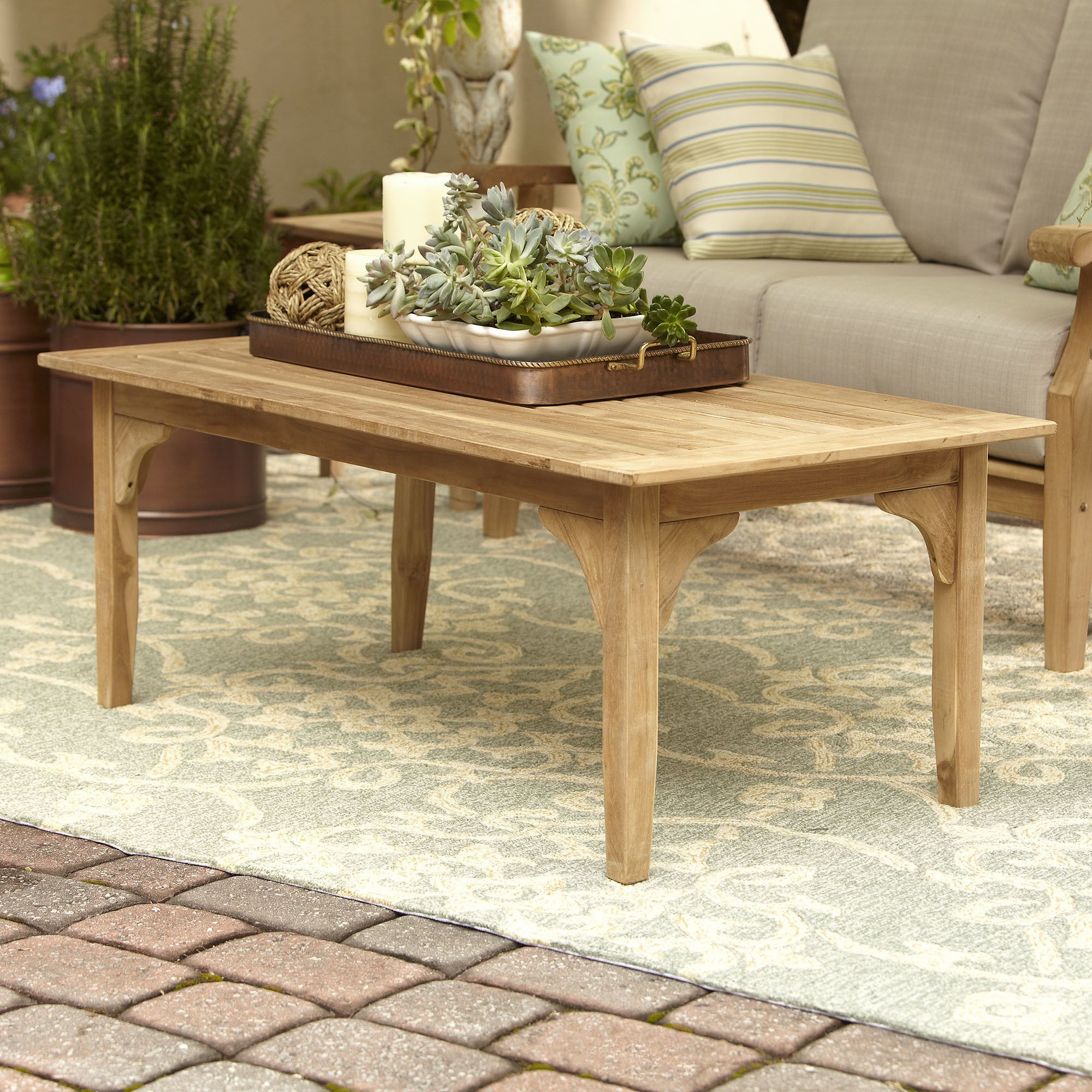 Summerton Teak Coffee Table Coffee Table Coffee Table Wood Outdoor Coffee Tables [ 2000 x 2000 Pixel ]