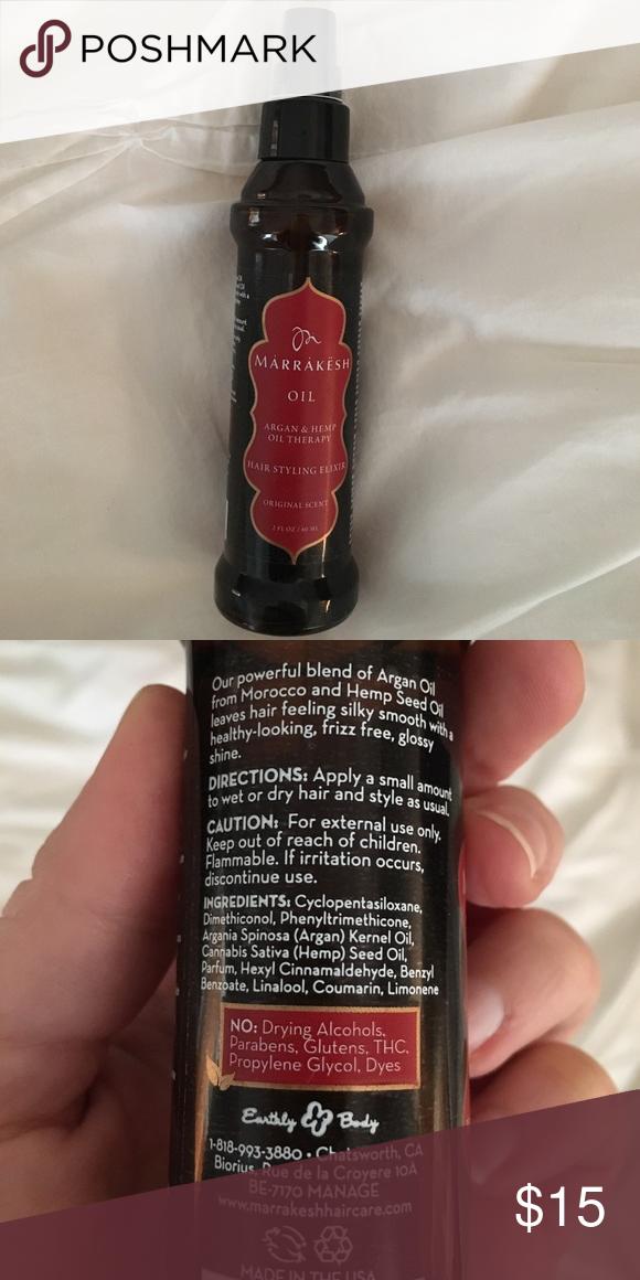 Marrakech Hair Styling Elixir Hair Styles Hemp Oil Hair