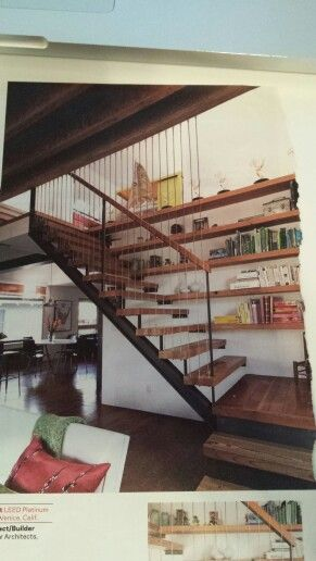 Douglas Fir Stair Treads And Bookshelves. Builderonline.com Duvivier  Architects