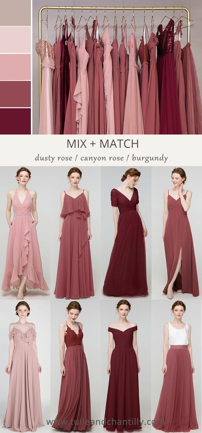 Long Short Bridesmaid Dresses 80 149 Size 2 30 And 50 Colors In 2020 Tea Length Bridesmaid Dresses Dusty Rose Bridesmaid Dresses Rose Bridesmaid Dresses