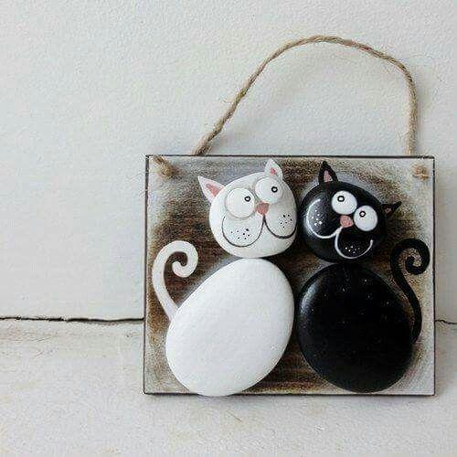 Cuadro con piedras decoracion pinterest manualidades for Cuadros hechos con piedras