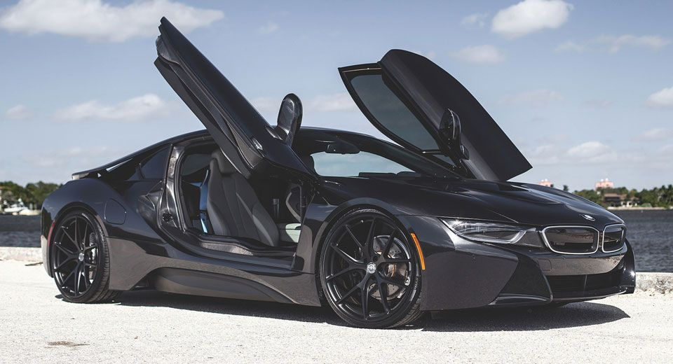 Blacked Out Bmw I8 Looks Stealthy With Hre Wheels Bmw I8