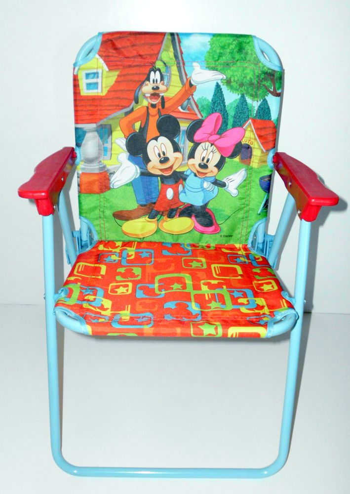 disney mickey mouse minnie mouse goofy childs kids folding chair disney