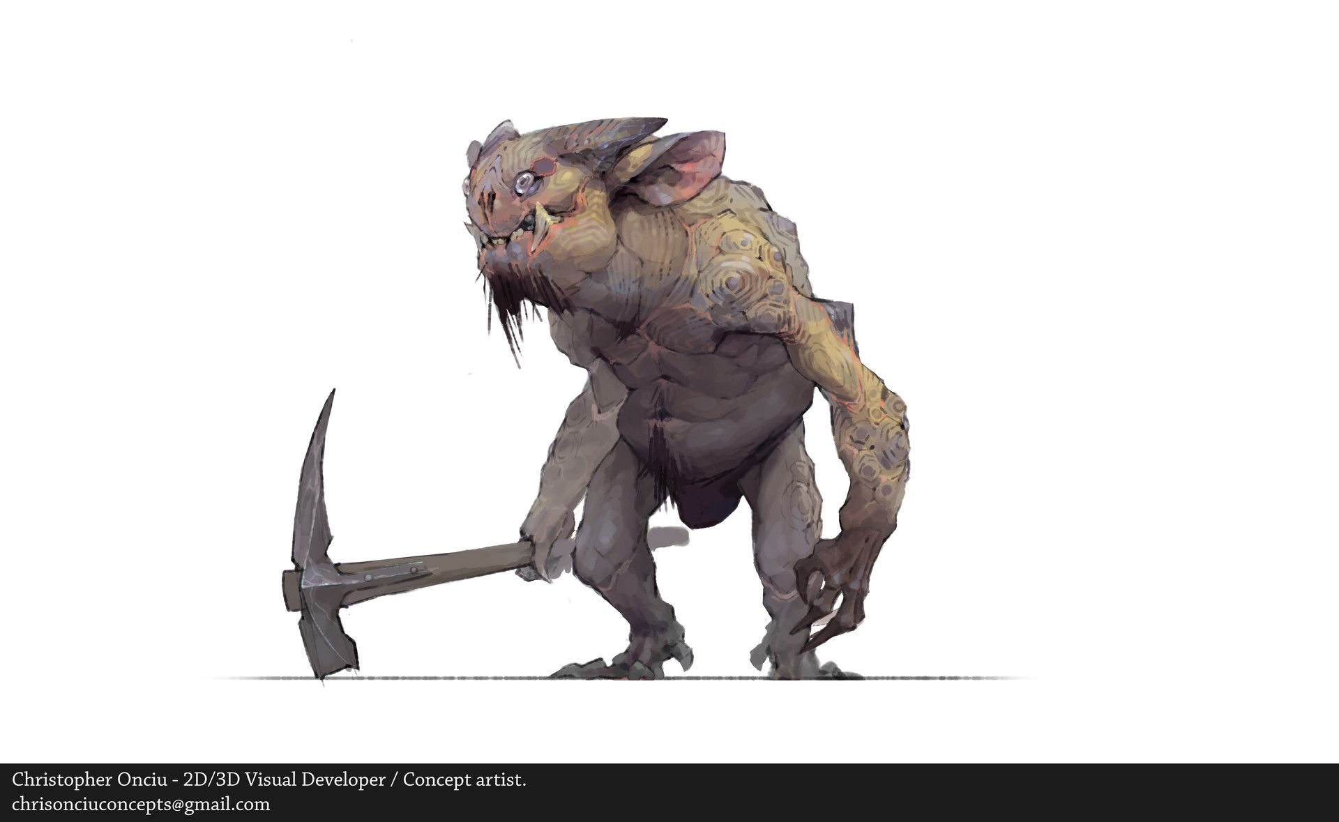 Artstation Cave Goblin Christopher Onciu Creature Design