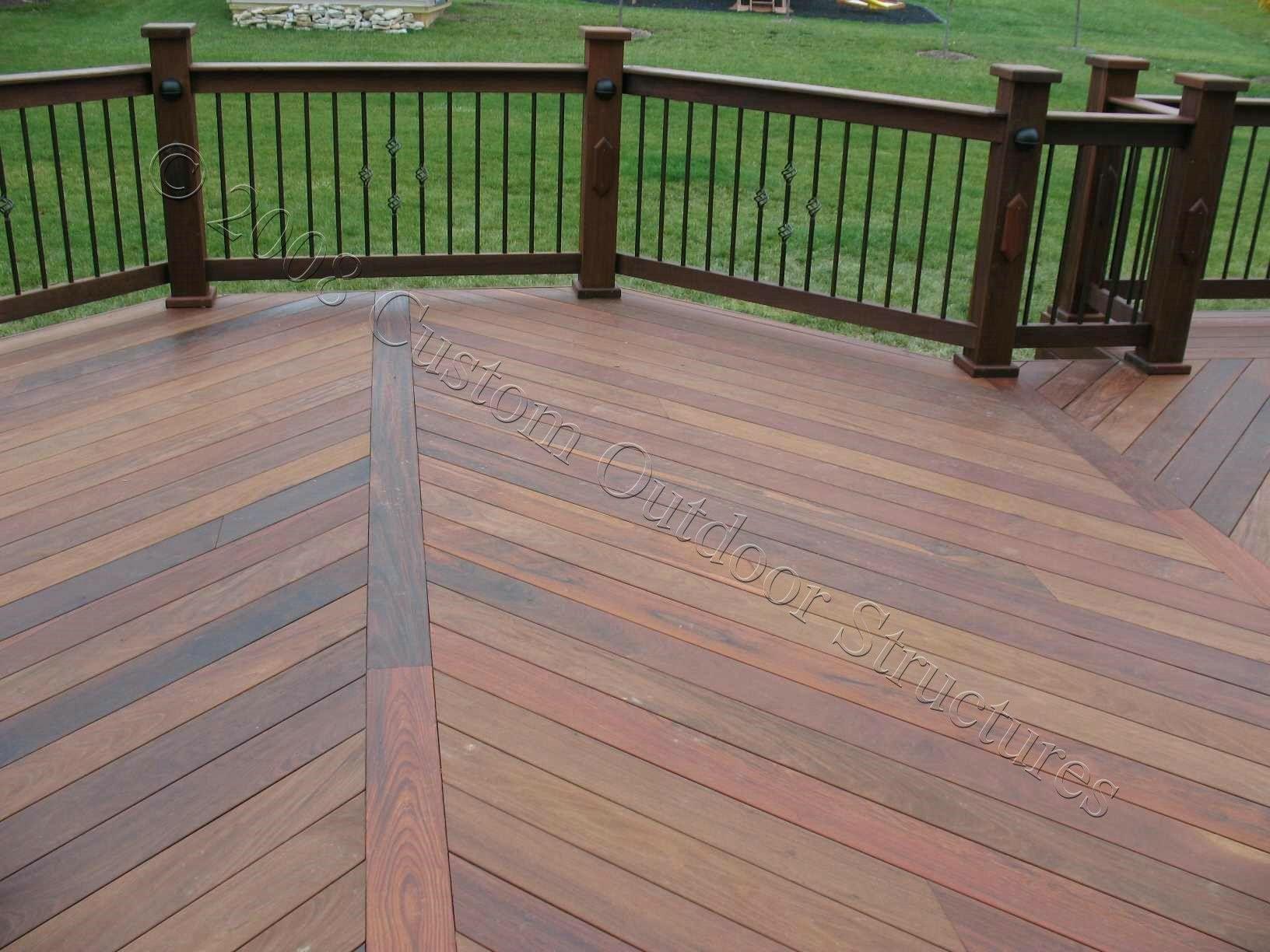 Pressure Treated Wood Decking Spacing Deck Patterns Deck Designs Backyard Treated Wood Deck