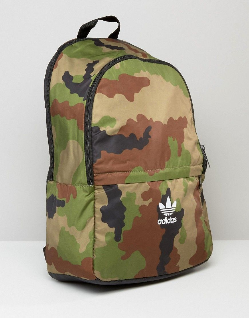 Adidas | adidas Originals Camo Print Backpack With Trefoil Logo at .