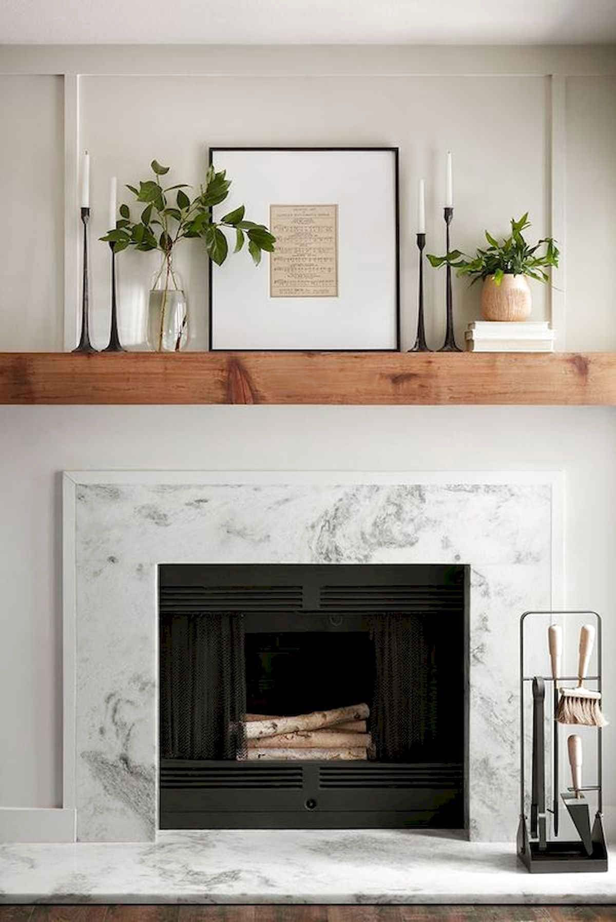 Best Modern Farmhouse Fireplace Mantel Decor Ideas Firep