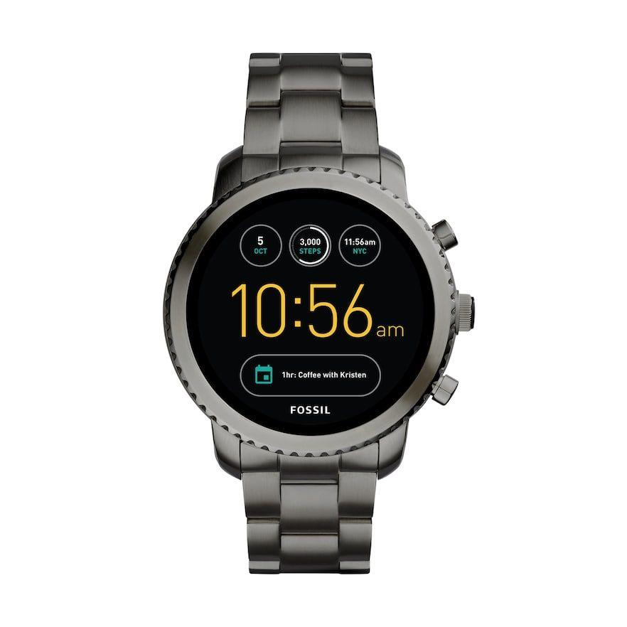 Fossil Men S Q Explorist Gen 3 Stainless Steel Smart Watch Ftw4001 Smart Watch Fossil Watches Best Watches For Men