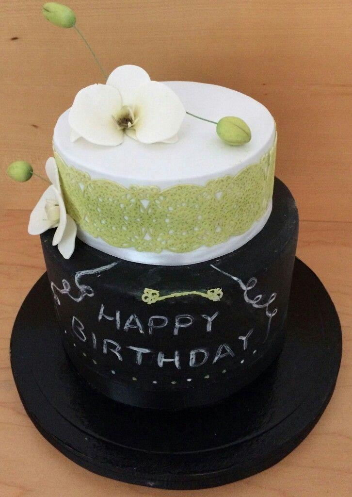 Birthday orquídea cake