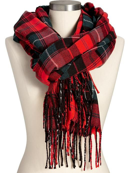 Blanket Scarf From Old Navy Womens Plaid Flannel Flannel