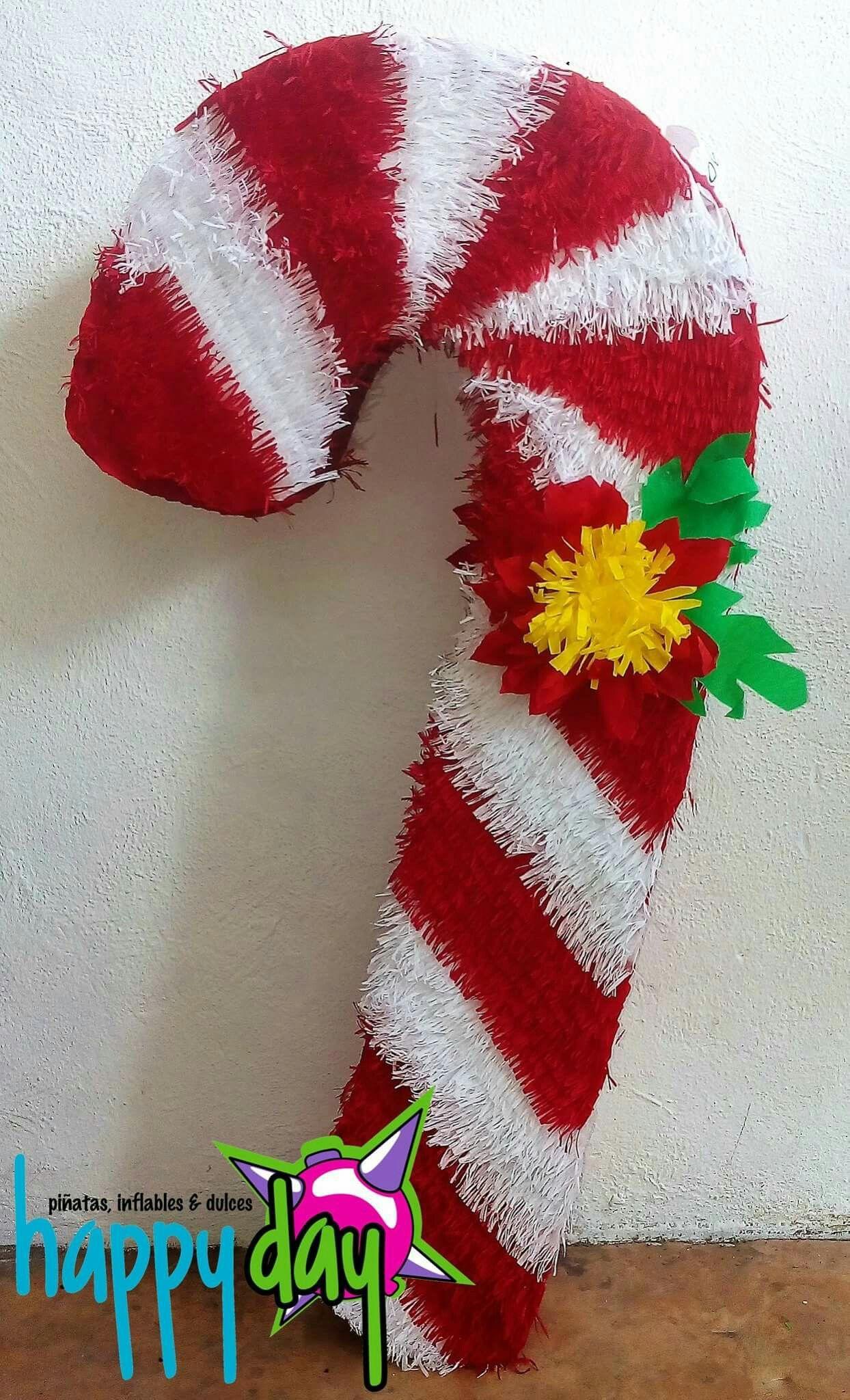 Pinata Navidena Baston De Caramelo Pinatas Originales Navidenas Pinatas Navidad Pinatas Tradicionales