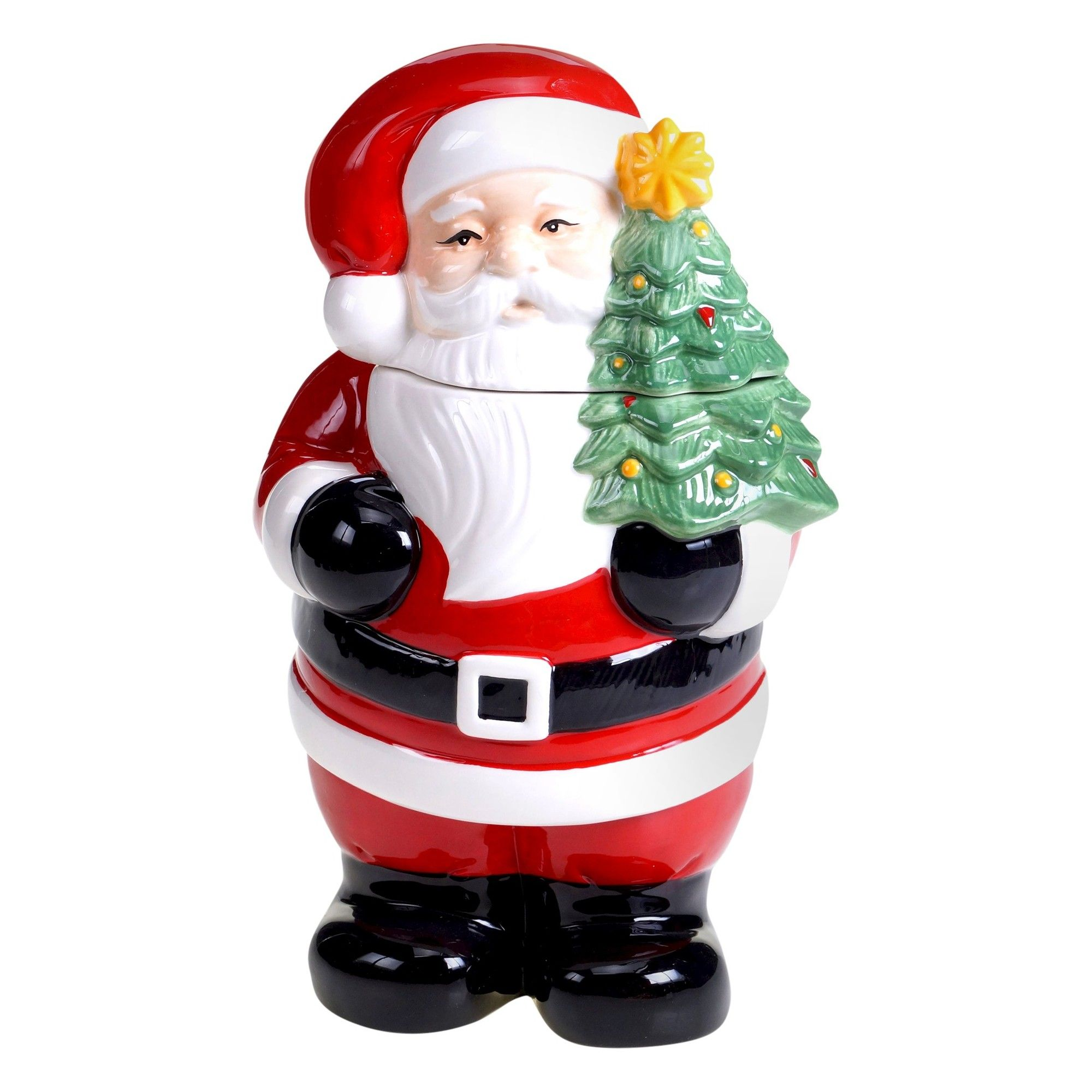 Certified International Retro Christmas 3-D Santa Cookie Jar | Retro ...