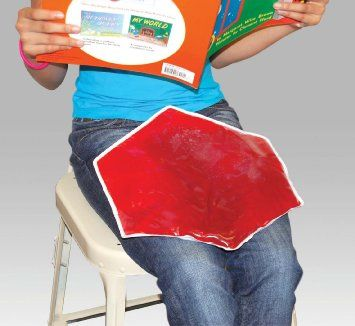 Amazon.com: Sensory Stimulation Weighted Gel Lap Pad - 3 Pounds Hexagon Shaped Red Color: Health & Personal Care