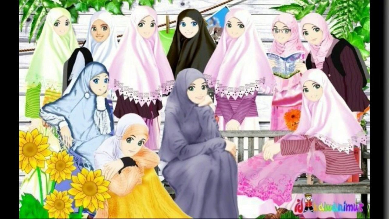 Album Kartun Muslimah Cantik Youtube Kartun Gambar Kartun Animasi